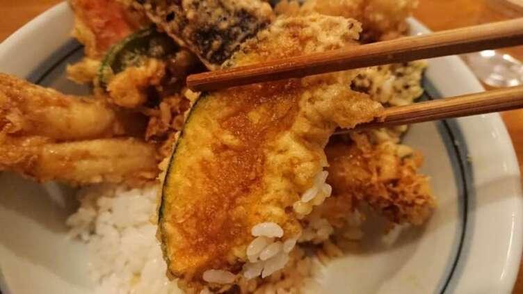 カボチャの天ぷら