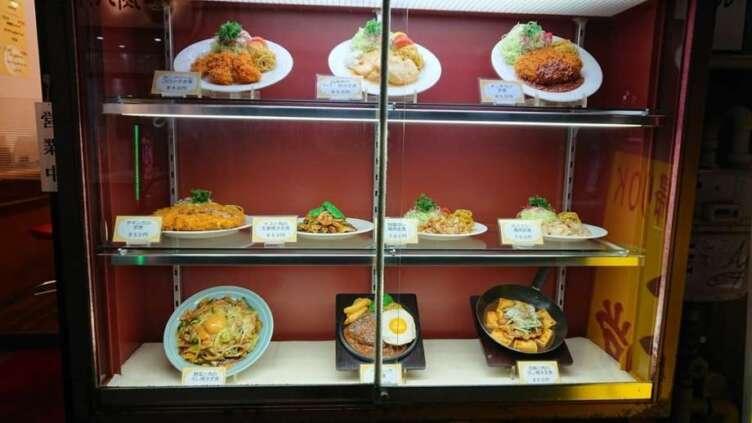 ランチハウスミトヤの食品サンプル