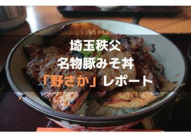 埼玉秩父にある行列必至の名物豚みそ丼「野さか」レポ!