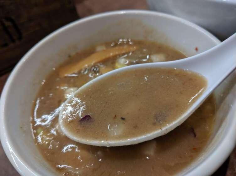ホタテつけそばのスープ