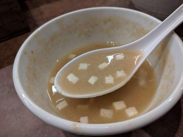 ほたてつけそばのスープ割り
