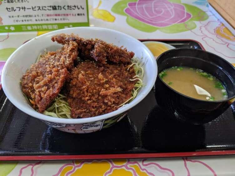 三峯神社のシイタケ丼