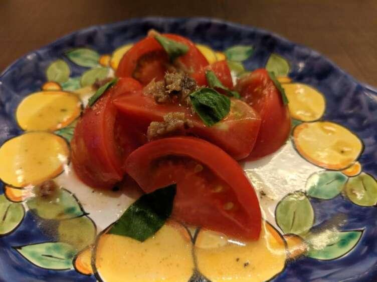アンチョビ風味トマト