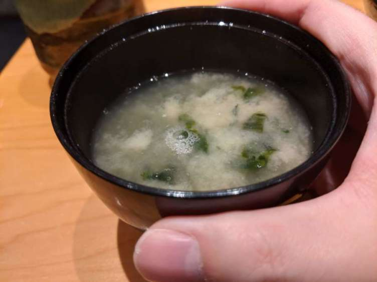 お寿司屋さんの味噌汁