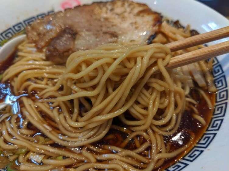 中華そば(黒)の細麺
