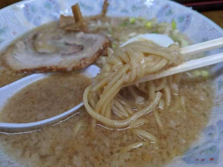 環七土佐っ子ラーメンの麺