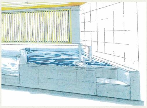 かるまるの水風呂サンダートルネード